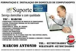 Formatacao de pc e notebook em domicilio  50 reais