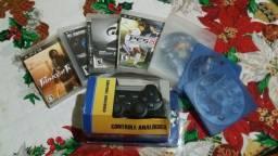 Controle PS3 mais Jogos