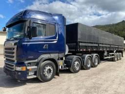 Scania R 440 8x2 2015 Stream e carreta Randon 2017