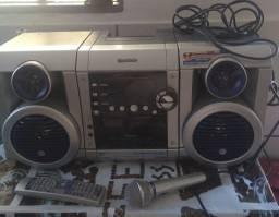 Vendo som gradiente rádio, karaokê
