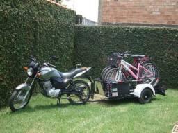 Carretinha para transporte de bicicleta modelo Eco Bike