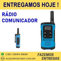 2 Rádio Comunicador Walkie Talkie Motorola T100Br 25Km Radio Frequencia