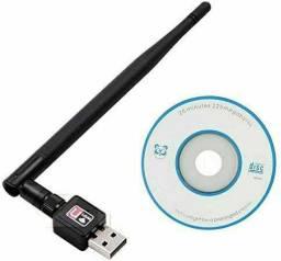 Adaptador Wireless 1200z Mbps Com Antena USB 2.0 <br>