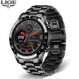 Smartwatch Lige I9 Preto - Atende e Faz Ligações