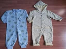 2 Pijamas  de frio para bebês por 40,00