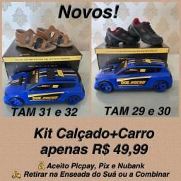 Kit sapato mais carro Promocao