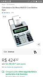 Calculadora eletrônica/impressora de mesa