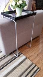 mesinhas laterais com encaixe para braço de sofá