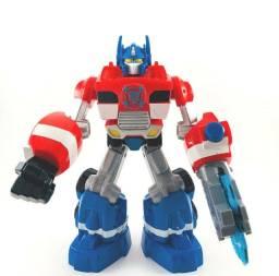 Action Figure Transformers Rescue Bots Energize Optimus Prime (Troco por Games)