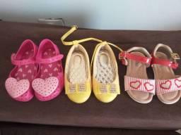 Lote sapato infantil menina