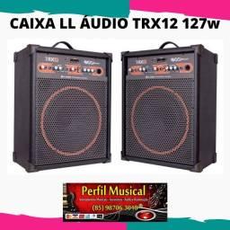 Caixa de som LL Áudio TRX 12 com bluetooth preta 80w fazemos entregas