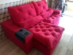 Sofá , Elegance Confort ? Retrátil e Reclinável ? 2 Metros Valor: R$1,360