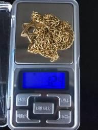 Cordão e dedeira ouro 18k