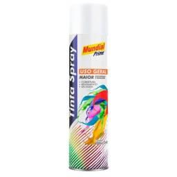 Título do anúncio: Tinta Spray Uso Geral 400ml Mundial Prime Branco Fosco