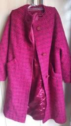 Casaco de Lã batida   longo  G lindo  R$ 150.00
