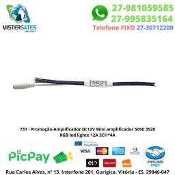 731 - Promoção-Amplificador Dc12V Mini amplificador 5050 3528 RGB led lighte 12A 3CH*4A