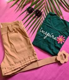 Título do anúncio: Short ?shorts saia ?T-SHIRTS
