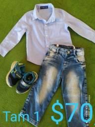 Roupa e calçados pra menino 1 ano