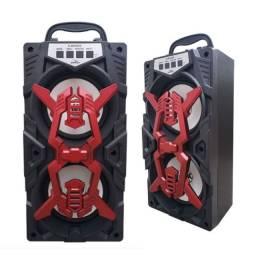 Caixa de Som Grasep Bluetooth Radio FM Usb Micro Sd