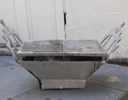 Churrasqueira de aluminio fundido