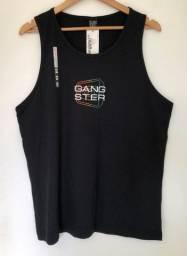 Camiseta Regata Gangster Cor Preta Tamanho M Estampada Produto Novo