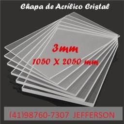 Chapa de Acrílico Cristal 3mm - 1050x2050mm