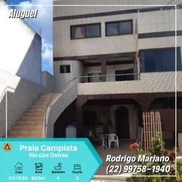 Alugo excelente casa c/ 3 quartos na Praia Campista em Macaé