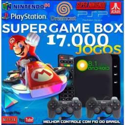 TV Box Video Game Retro 17 Mil Jogos retro box O melhor