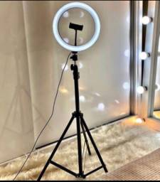 Ring light novos tripé completo muito bom selfie vídeos