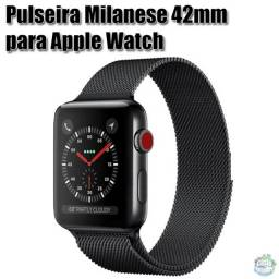 Pulseira De Metal Milanese Apple Watch 42mm
