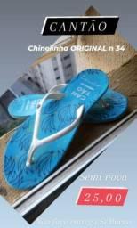 1 Chinelinha marca CANTÃO n34 original semi nova