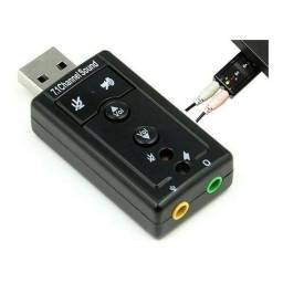 Placa de áudio USB
