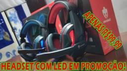 Super Headset com Leds Vermelho ou Azuis! (Temos outros Modelos!)