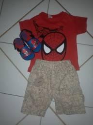 Lote de roupas e calçados menino 1 ano