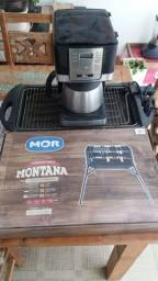 Kit - churrasqueira, assadeira e cafeteira