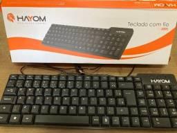 Vendo teclado de computador com fio