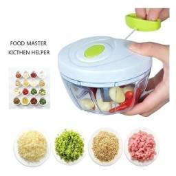 Título do anúncio: vendo Mini Processador Triturador De Alimentos Manual Para Alho Cebola Tomate Frutas
