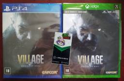 Resident evil Village ps4 e Xbox mídia fisica