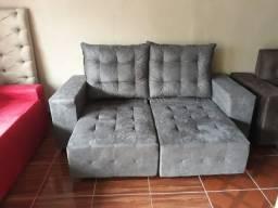 Sofa retratil reclinável confortável entrega grátis