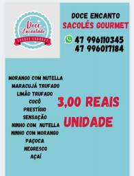 Sacoles gourmet doce encantado 3 reais