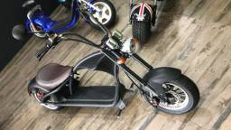 Scooter Patinete Elétrico Harley / Chopper 3000w Bateria + Bolsa de couro