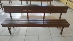 Banco de igreja de madeira maciça seminovo 220x40