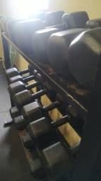 Jogo kit de dumbell halteres 12 kg ao 32 kg