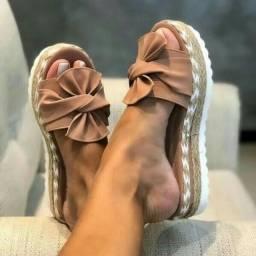 Tamanco sandália tratorada flatform corda leve<br><br>