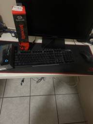 Mouse G403,teclado mecânico hyperx e mouse pad red dragon