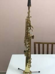 Sax soprano reto yagle 311 em bom estado