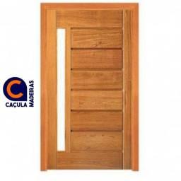 Porta Pivotante visor reto - madeira Angelin Pedra - pronta entrega