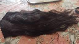 Aplique 60 cm cabelo humano