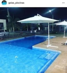Construção de piscinas de vinil e azulejo
