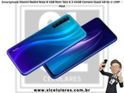 Redmi Note 8 64GB +4GB Ram Preto e Azul